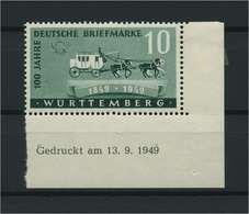 FRZ.ZONE WUERTTEMBERG 1949 Nr 49Bru Postfrisch (116960) - Französische Zone