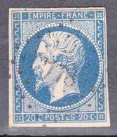 Second Empire  1853-60  20c  Bleu Foncé Y.T.num 14 Avec  PC 778  CHATEAUBOURG  I.et.V. Scan Recto Verso  Sans Charniere - 1853-1860 Napoleon III