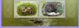 Kazakhstan 2019.  Red Book Of Kazakhstan. Eurasian River Otter. Fauna. MNH - Kazakhstan