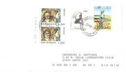 LETTERA X ITALIA CON £100 CAMPIONATI MONDO JUNIORES CICLISMO - Saint-Marin