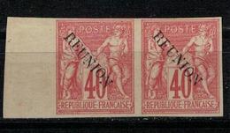 REUNION        N° YVERT  :  14 B X 2    NEUF SANS GOMME        ( SG     01/38  ) - Isola Di Rèunion (1852-1975)