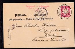 Wappen 10 Pfg. Mit K1 MÜNCHEN 6 DEZ 90 Nach Wald Canton Zürich - Bavaria