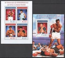 ST2465 2014 MOZAMBIQUE MOCAMBIQUE SPORT BOXING MUHHAMAD ALI WORLD CHAMPION KB+BL MNH - Boxeo