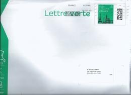 Oblitération Solystic De Bois D'Arcy Pour Enveloppe Grand Format - Pap Monuments Lettre Verte 100g - Poststempel (Briefe)