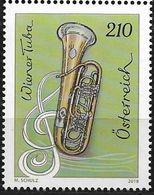 2018 Austria Österreich  Mi.  3374  **MNH   Wiener Tuba, Violinschlüssel - 2011-... Nuovi & Linguelle