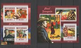 ST2276 2015 MOZAMBIQUE MOCAMBIQUE ART GREAT PAINTERS PAUL GAUGUIN KB+BL MNH - Andere