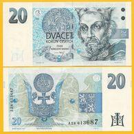 Czech Republic 20 Korun P-10a 1994 (Prefix A) UNC Banknote - Tschechien