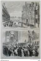 Napoléon III - Voyage De Leurs Majestés Dans Le Nord - Arras - Lille - Page Original 1867 - Documents Historiques