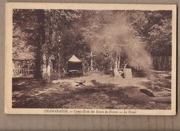 CPA 91 - CHAMARANDE - Camp Ecole Des Scouts De France - Le Kraal - TB PLAN Installation Dans Forêt SCOUTISME - Padvinderij