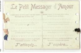 P 137 OLD FANTASY POSTCARD , PENSEE , GREETINGS , PETITE MESSAGE D'AMOUR - Fêtes - Voeux