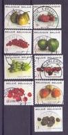 Belgie - 2007  - OBP - 3685/3692 + 3694 - Fruit  - Gestempeld - - Belgium
