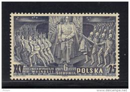 POLOGNE 1939  1 TIMBRE DU BLOC 8 ** MNH .  (3PO75) - 1919-1939 République