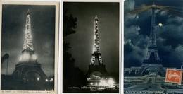 PARIS - TOUR EIFFEL - 3 Cartes La Nuit, Tour Illuminée: Pub Citroën - Tour Eiffel