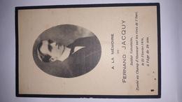 Image Pieuse JACQUY Verband Tombé 1916 Yser Ww1 Gesneuveld Oorlog Champ Honneur Soldat Soldaat Patrie - Godsdienst & Esoterisme