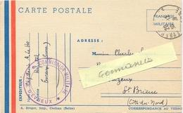 GUERRE 39-45 COMMISSION MILITAIRE GARE D'EVREUX EURE TàD 30-12-39 - CAPITAINE X HOPITAL - Marcophilie (Lettres)