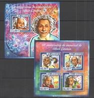 ST2358 2015 MOZAMBIQUE MOCAMBIQUE SCIENCE FAMOUS PEOPLE ANNIVERSARY ALBERT EINSTEIN KB+BL MNH - Albert Einstein
