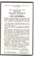 Devotie Doodsprentje Overlijden - Pharailde Hostens - Lichtervelde 1877 - Gent 1959 - Esquela