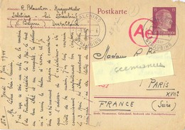 GUERRE 39-45 POSTKARTE D'un STO SALCHING STRAUBING TàD 9.6.44 Avec CENSURE Ae 587 - Marcophilie (Lettres)