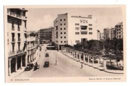 Maroc 007, Casablanca, Edition LM 84, Square Gentil Et Avenue Moinier - Casablanca