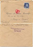 GUERRE 39-45 LETTRE D'un STO à OBERLAHNSTEIN Adolf Hitlerstraße TàD 28.12.43 - Marcophilie (Lettres)