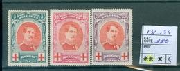 132-134 Xx  Côte 360€ - 1914-1915 Croce Rossa