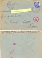 GUERRE 39-45 LAGER 4923 10-28 GEMEINSCHAFTS LAGER …STEINHAF HOHOLINDE BEÏ BEUTHEN TàD KATTOWITZ 21.11.43 - Marcophilie (Lettres)