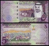 SAUDI ARABIA 5 RIYALS (P NEW) 2017 UNC - Saudi Arabia