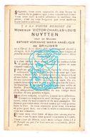 DP Victor Charles L. Nuytten ° Ieper 1855 † Brugge 1927 X Esther A. De Brauwer - Images Religieuses