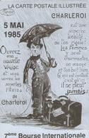 CHARLIE CHAPLIN . DESSIN CARTE BOURSE CHARLEROI 1985 . N° 255 De Tirage Limité 500 Ex. - Acteurs