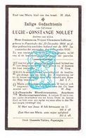 DP Lucie Constance Nollet / Lefever ° Poperinge 1866 † 1930 - Images Religieuses