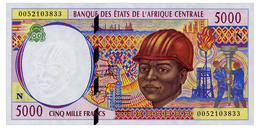 CENTRAL AFRICAN STATES 5000 FRANCS 2000 Pick 504Nf Unc - Central African States