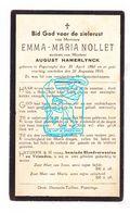 DP Emma M. Nollet ° Poperinge 1860 † 1935 X Aug. Hamerlynck Hamerlinck - Images Religieuses