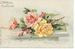 Illustrator - C. Klein - Roses, Rosen, Rosa, Postkarte Mit Rosenduft,  Postcard With Rose Fragrance / 1905 - Klein, Catharina
