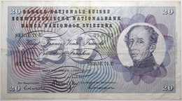 Suisse - 20 Francs - 1970 - PICK 46r.1 - TTB - Schweiz