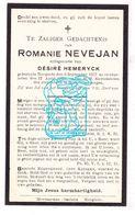 DP Romanie Nevejan ° Hooglede Gits 1857 † 1928 X Désiré Hemeryck - Images Religieuses