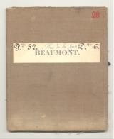 Carte De Géographie Toilée - BEAUMONT 1879 - Levée Et Nivelée 1866 (b271) - Geographical Maps