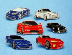 6 PIN'S //  ** LOT / 6 VOITURES SPORTIVES / 2 PORSCHES / CORVETTE / DODGE-VIPER / BUGATTI / SPECTRE ** - Porsche