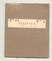 Carte De Géographie Toilée - NALINNES 1877 - Levée Et Nivelée 1866 (b271) - Geographical Maps