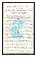 DP Celina Augusta M. Neyt 32j. ° Eeklo 1884 † Gent 1916 X Benoni Seynaeve - Images Religieuses
