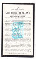 DP Louis Joseph Nevejans ° Watou Poperinge 1844 † 1911 X Theresia Demol - Images Religieuses