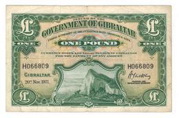 Gibraltar 1 Pound 1971, VF. - Gibraltar