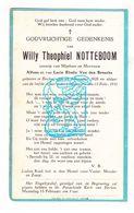 DP Willy Theophiel Notteboom / Van Den Broucke ° Eeklo 1928 † 1932 - Images Religieuses