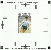 1994 Uganda MNH Football Soccer FIFA World Cup USA - Artist Proof - Diego Maradona Argentina (#1) - World Cup