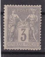 # Z.10880 France Republic 1877 - 80 Type II. Value 3 C. Grey, MNH, Yvert 87, Michel 70 (?): Pax & Mercur - 1876-1898 Sage (Type II)
