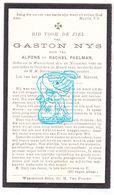 DP Gaston Nys / Paelman 15j. ° Waarschoot 1920 † Gent 1936 - Images Religieuses