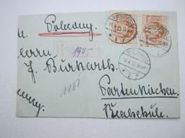 1923 , Einschreiben  Aus BYDGOSZCZ, Etwas Verkürzt - 1919-1939 Republic
