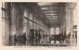 ***  75  *** Inondations De PARIS 1910  Le Hall De La Gare Des Invalides - Neuve Excellent état - La Crecida Del Sena De 1910