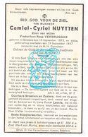 DP Camiel Cyriel Nuytten / Verbrugghe ° Beselare Zonnebeke 1873 † 1937 - Images Religieuses