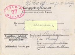 GUERRE 39-45 COR.PRISONNIER DE GUERRE Français Stalag I B /97 HOHENSTEIN - OLSZTYNEK POLOGNE 24-11-44 - Marcophilie (Lettres)