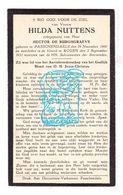 DP Hilda Nuttens 30j. ° Passendale Zonnebeke BEL 1900 † Rouen FR Normandie 1931 X Hector De Burghgraeve - Images Religieuses